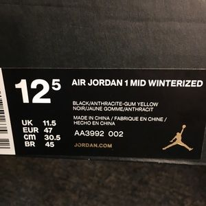 Jordan 1s Winterized (mids)